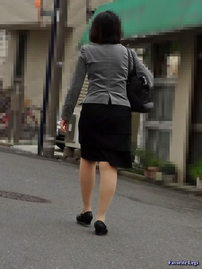 街撮り 熟女パンスト 街角パンスト美脚
