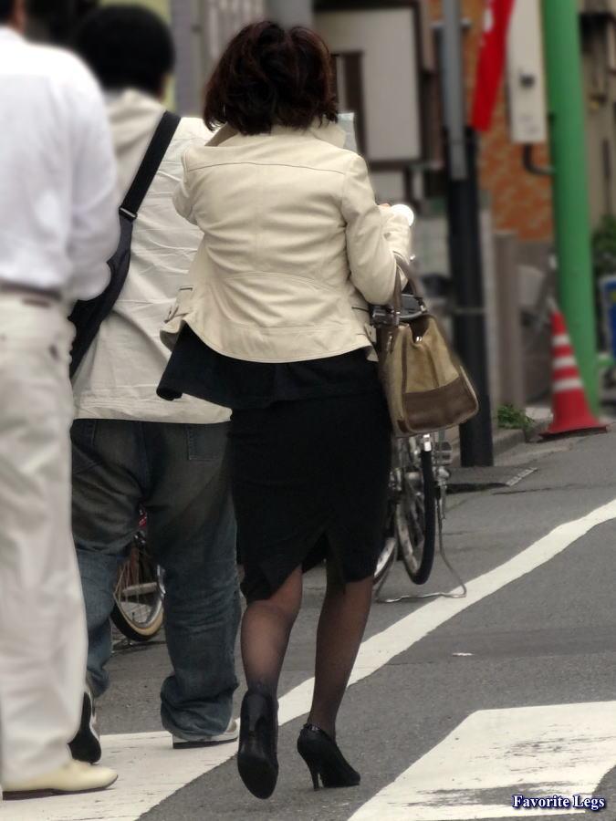 街撮り 熟女パンスト