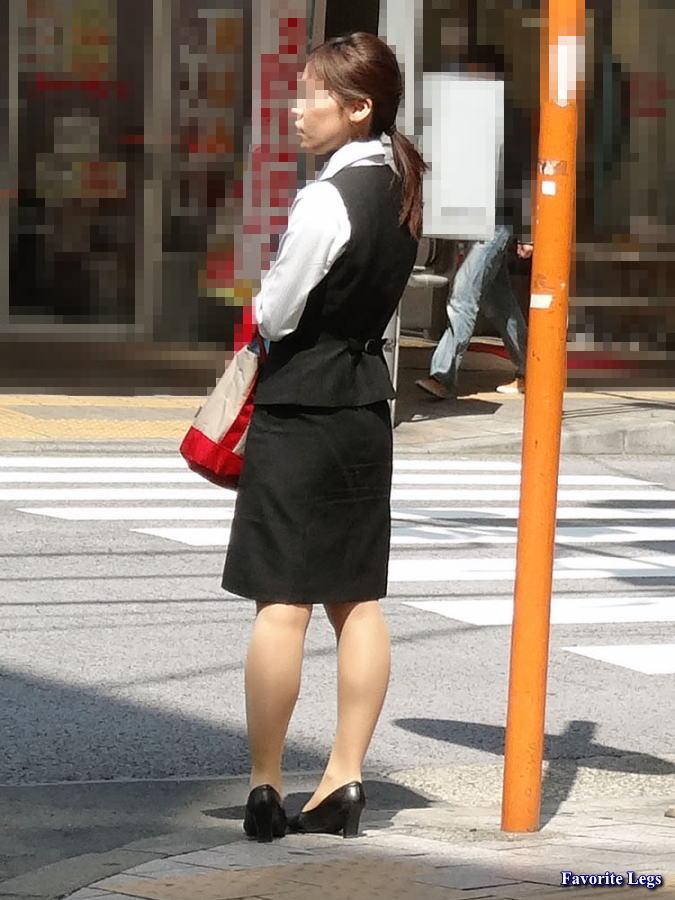 OL制服+街撮り:ナチュスト制服OL